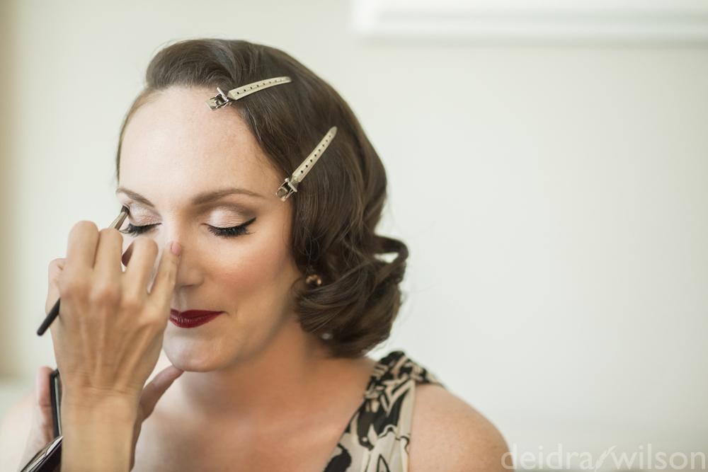 Retro glam bride Las Vegas makeup